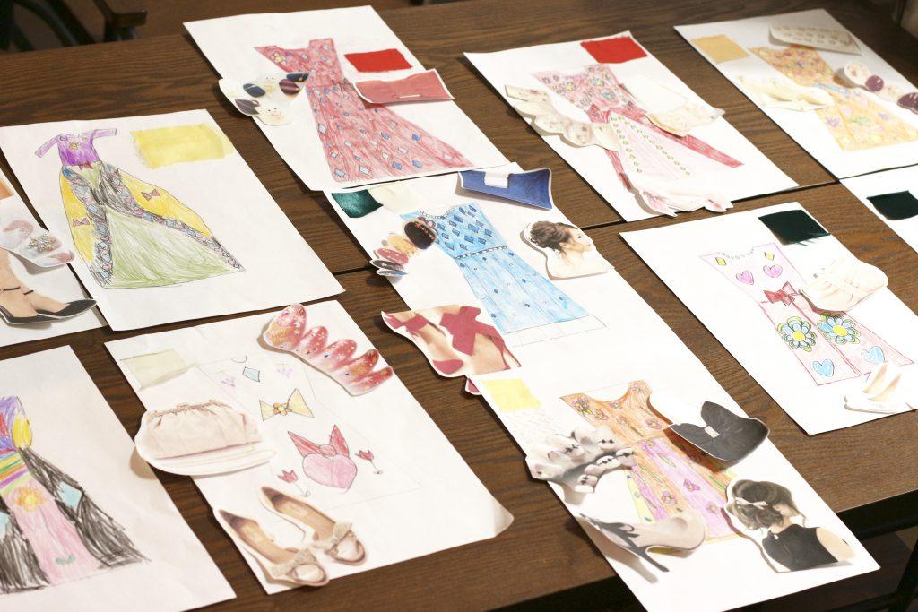 デザイン教室にて子どもたちが描いたデザイン画一覧