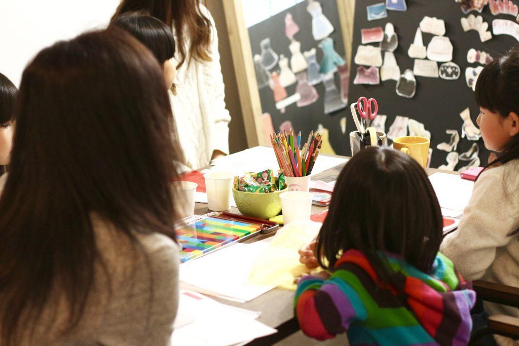 子どもデザイン教室 ワークショップの様子
