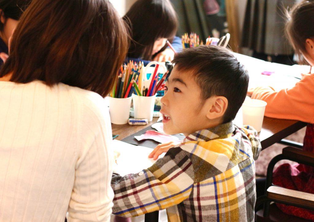 デザイン教室にて 親子でデザインを考える