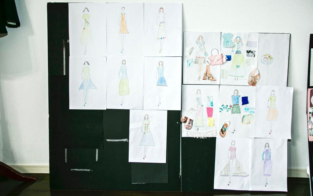 子供ファッションデザイン画